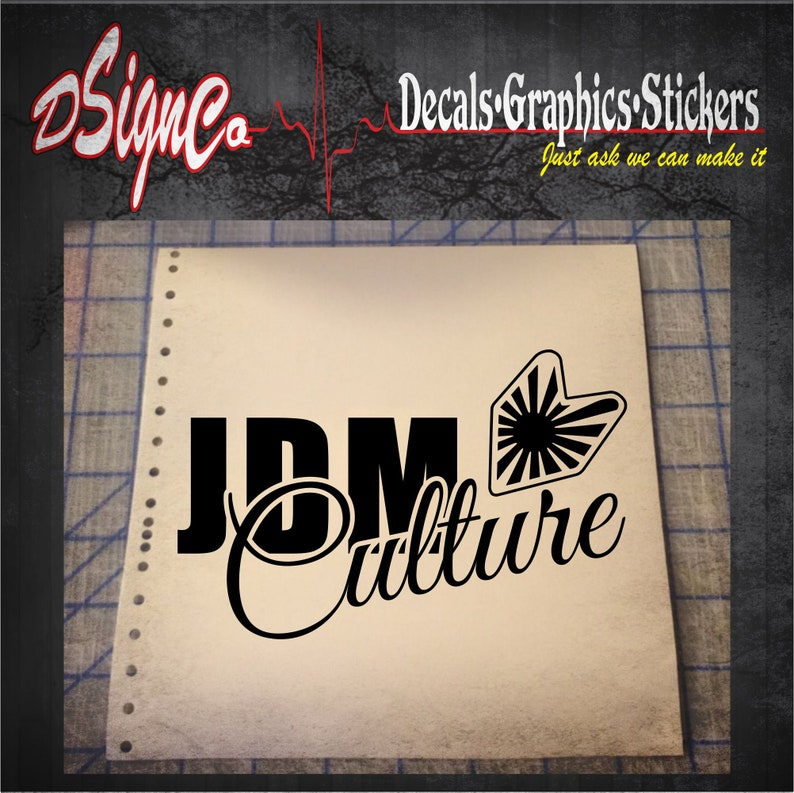 JDM Culture Vinyl Decal Sticker image 0