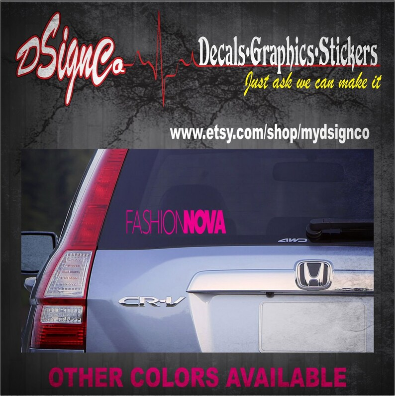 Fashion Nova Vinyl Decal Sticker image 0
