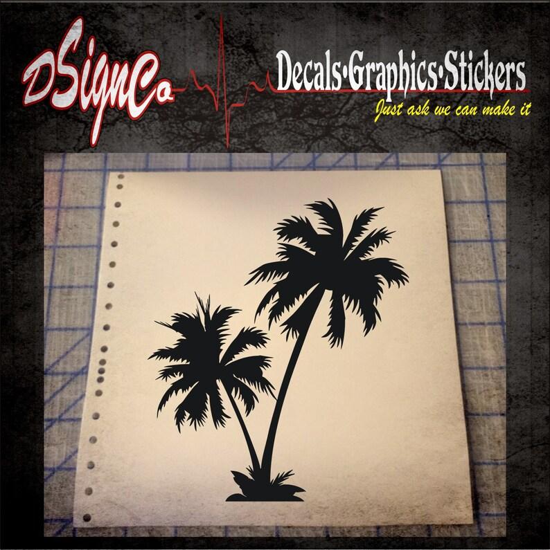 Palm Tree Vinyl Decal Sticker image 0