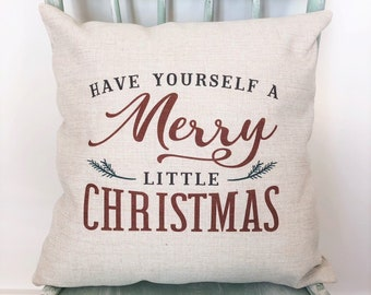 farmhouse christmas decor pillow cover 20x20 christmas pillow cover