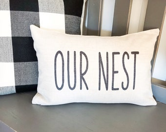 Awesome Our Nest Pillow Etsy Ncnpc Chair Design For Home Ncnpcorg