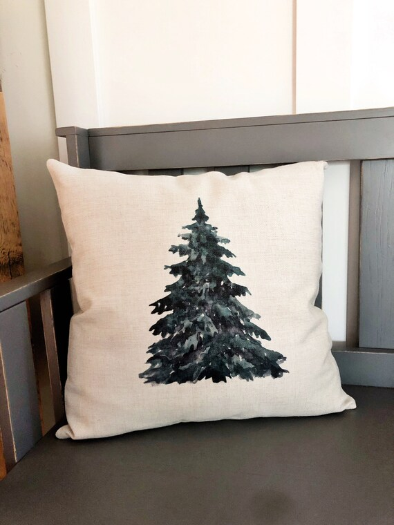 Christmas Tree Pillow Cover Winter Decor Pillow Cover Etsy