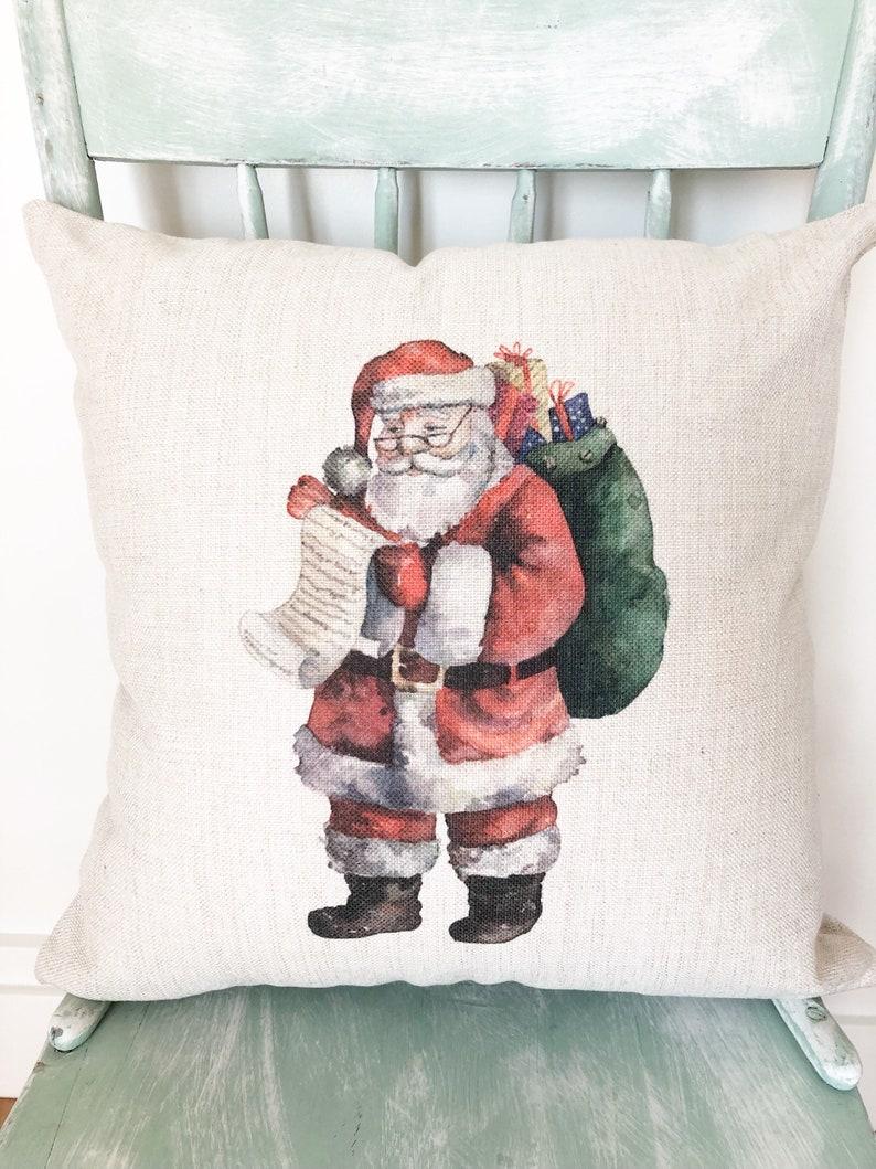 d5e2e5657d Merry Christmas Santa Pillow Cover Christmas Pillows | Etsy