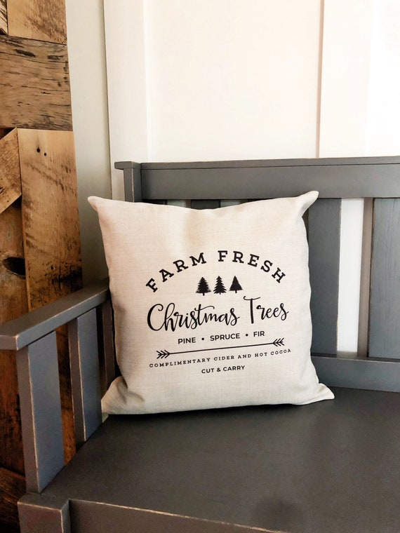 Christmas Pillow Farm Christmas Tree