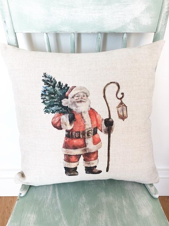 Christmas Pillows.Santa Pillow Cover Christmas Pillows Christmas Santa Pillow Cover Christmas Decorations Farmhouse Decor Holiday Pillow Santa Decor