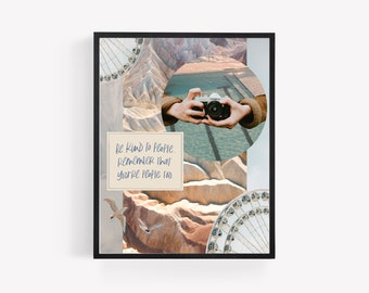 Be Kind to Yourself Collage Art | Collage Art | Collage Art Print | Collage | Bible Art | Bible Art Print | Scripture Art Print | Print