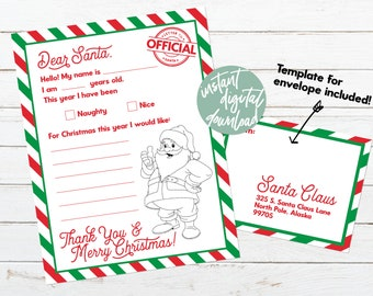 Santa Wish List Etsy