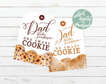 picture regarding You're One Smart Cookie Printable known as Clever little ones tag Etsy