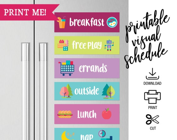 image about Free Printable Visual Schedule for Preschool called Printable Visible Routine for Preschoolers, Little one Visible Calendar, Autism Printable Calendar Agenda, Within just-Residence Daycare Components