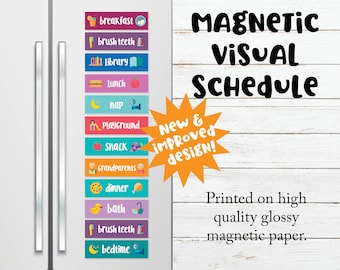Visual Schedule for Preschoolers, Toddler Visual Calendar, Autism Calendar Schedule, In-Home Daycare Supplies, Tools for Autism Aspergers