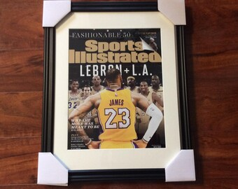 5c3aec21b2a Framed 11x14 LeBron James Los Angeles Lakers Sports Illustrated Cover