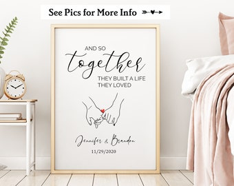 And So Together They Built a Life They Loved Print, Couples Gift, Love Message, Anniversary Gift for Her, Valentines Day Gift for Husband