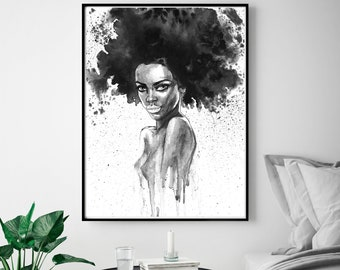 Woman Wall Art Etsy