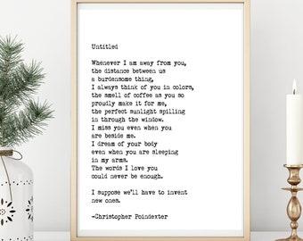 Poetry print | Etsy