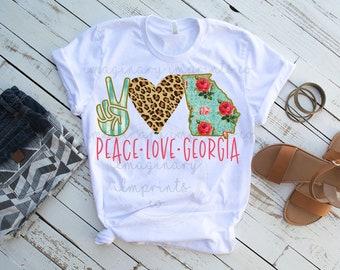 c25a72c30f5c Peace Love Georgia sublimation png - Sublimation design - Digital design -  Sublimation - DTG printing - Georgia Sublimation Design