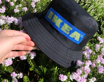 4a8cb1741a305 ... top quality black ikea bucket hat 13979 7462f