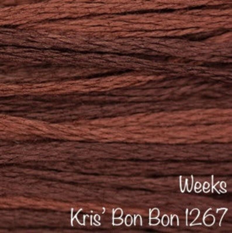 WEEKS DYE WORKS \u201cKris\u2019 Bon Bon 1267\u201d hand over-dyed embroidery floss