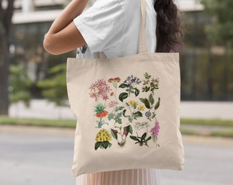 Canvas Shopping Tote Bag Flower Vintage Look D Botanical /& Flower Beach Bags for Women Flowers Gifts