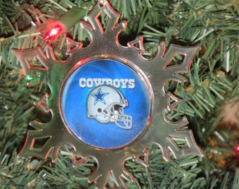 dallas cowboys personalized ornament dallas cowboys ornament cowboys ornament snowflake ornament free shipping