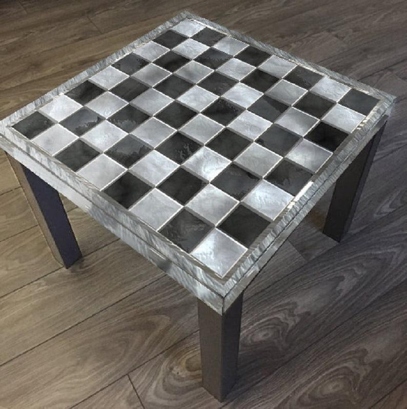 image 0 ... & Custom IKEA Lack Table Chess Board Vinyl Cover Sticker | Etsy