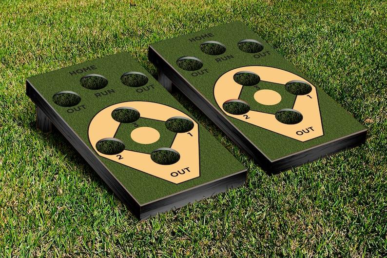 Cornhole Wraps 2 Baseball Diamond Decals Vinyl Sheets For Wrapping Cornhole Boards