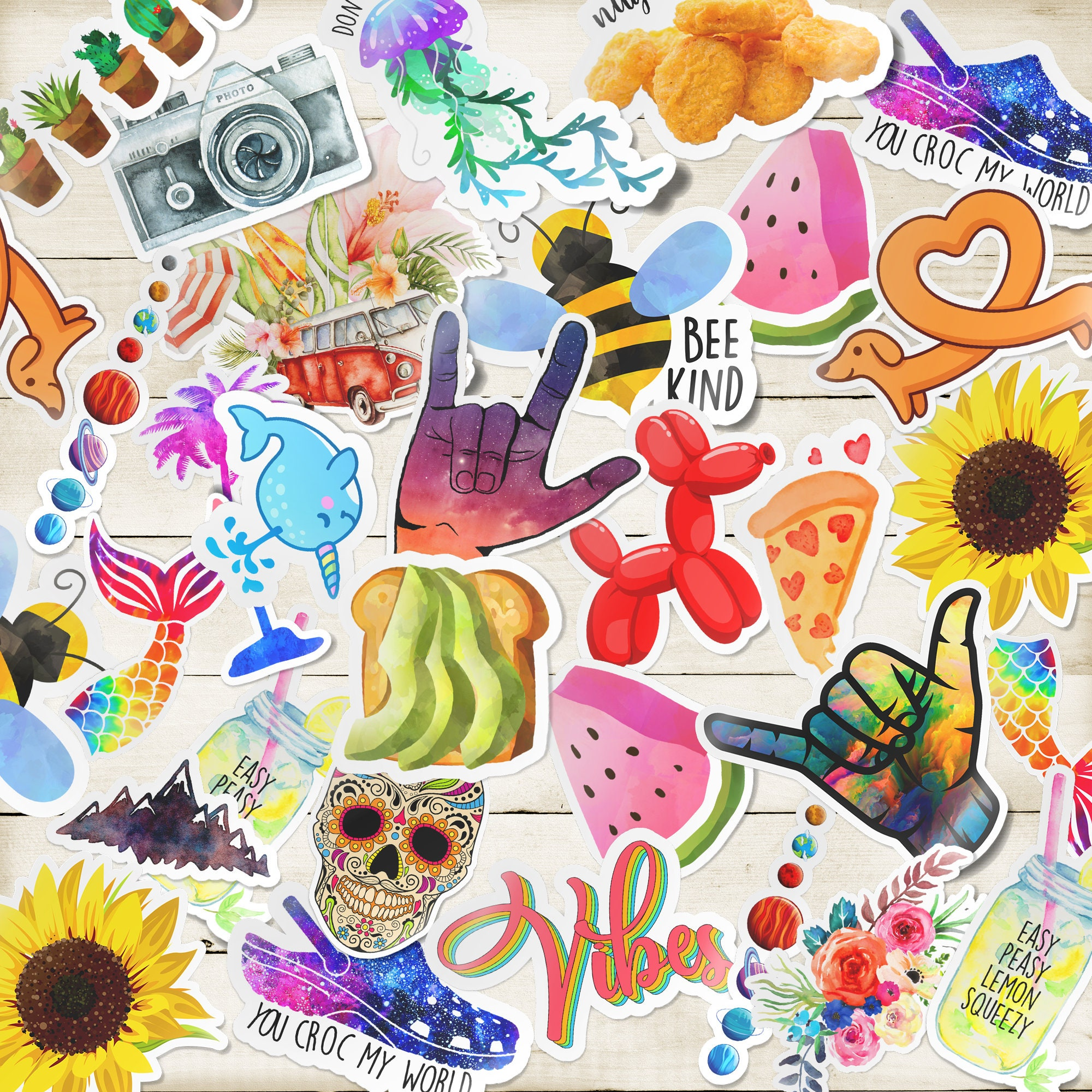 stickers cute sticker pack vinyl mystery cool etsy laptop order decals custom any