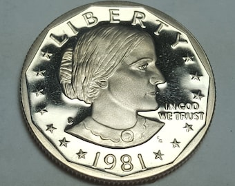 SUSAN B ANTHONY Bright Uncirculated 1981 D