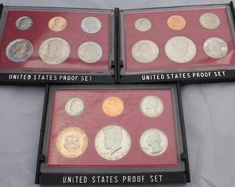 1980 1981 1982 1983 1984 1985 1986 1987 1988 1989 P+D+S Jefferson Mint Proof Set
