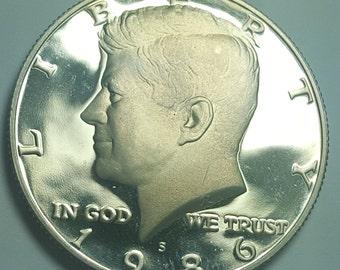 1989 S Kennedy Half Dollar Gem Deep Cameo Clad PROOF US Mint Coin