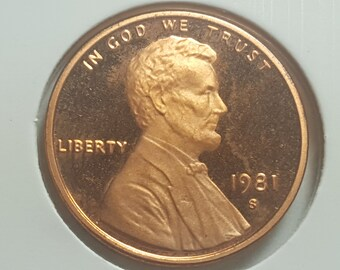 1981 S Proof Kennedy Half Dollar Type 1 Clear S Deep Cameo   Etsy