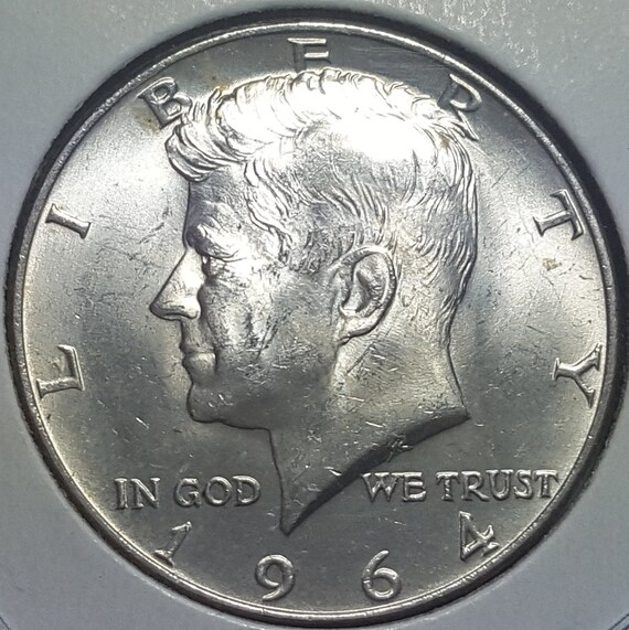 """3 Available 1964 D Kennedy Half Dollar 90/% SILVER US Mint Coin /""""Uncirculated/"""""""