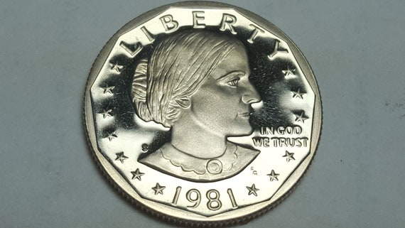 1981-S Proof Susan B Anthony Dollar Type 2 Clear S Deep Cameo BU