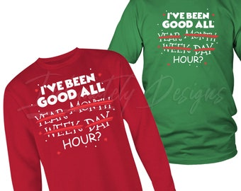 49a7fcaa I've Been Good All Year | Funny Ugly Christmas Sweater | Cute Xmas Shirt  for Naughty Men Women | Holiday Seasons Greetings New Year Apparel