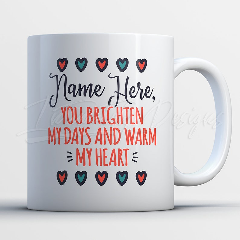 7f8163e9a988e Personalised Mug | Custom Name Gifts for Her | Brighten and Warm |  Customized Mugs for Women | Christmas Birthday Gift for Loved Ones
