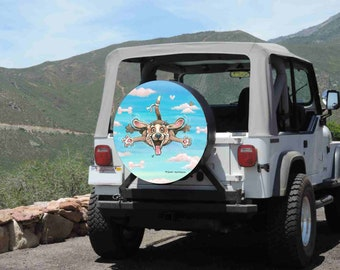 Soccer Ball Spare Tire Cover Wheel Cover Jeep RV Camper VW etc all sizes avail