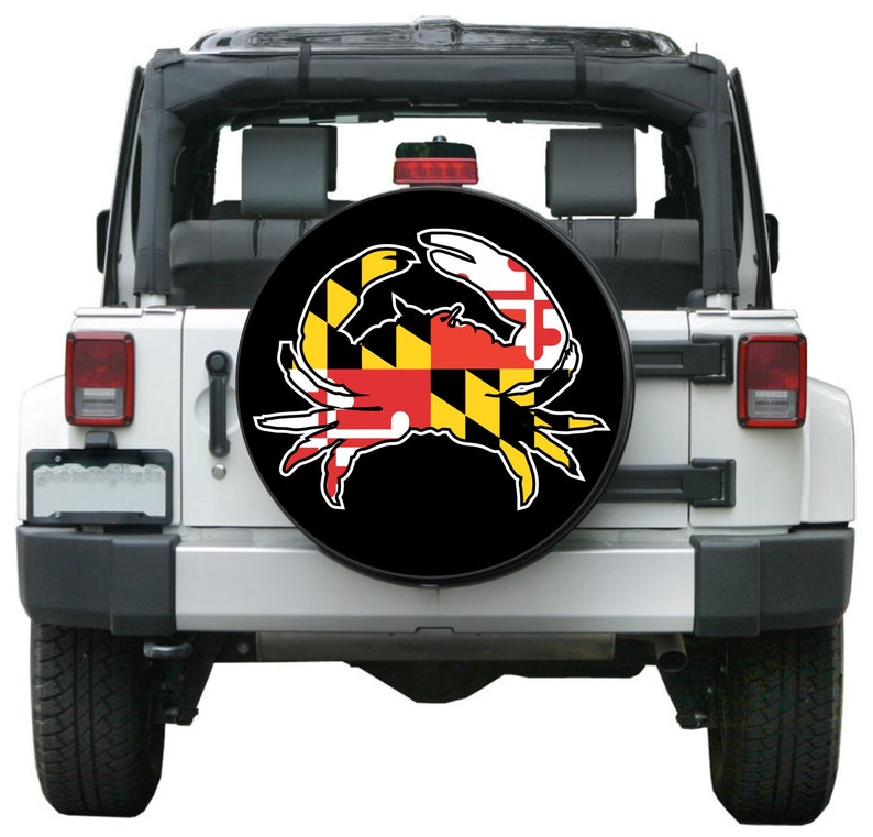 15ed6adeae56 Maryland Flag Crab Spare Tire Cover Custom Made for your Exact