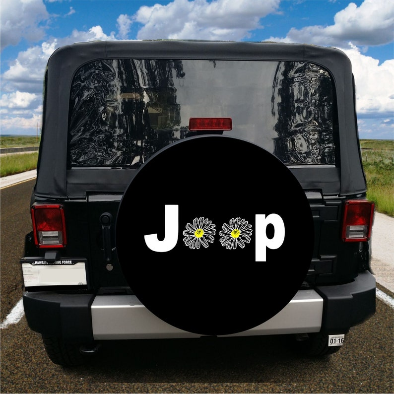 Jeep Daisy Spare Tire Cover For Jeeps Custom Made For Your Etsy