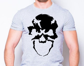 d5710300 Skull Unisex T-shirt, Rock T-shirt, Skull Face Shirt, Hipsters t shirt, Men  Graphic Tee, Graphic t shirt, Rock t shirt, Horror shirt