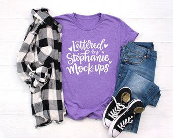 Shirt Mockup   Bella Canvas 3001 Mockup   Purple Shirt Mock up   Flat Lay Mock up   Digital Mockup   T shirt Mock up   Women's Flat Lay