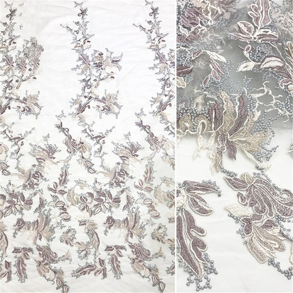 Evening Gown Fabric Tulle Embroidered Lace Fabric For Prom Dress Guipure Lace Fabric By The Yard New Floral Lace Fabric