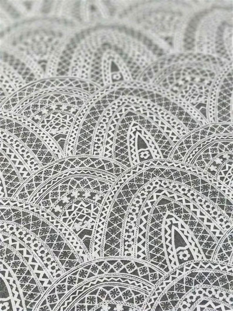 Fashion Wedding Lace Fabric Tulle Bridal Lace Fabric Elegant Embroidery Lace Fabric Evening\\ Prom Dress Fabric