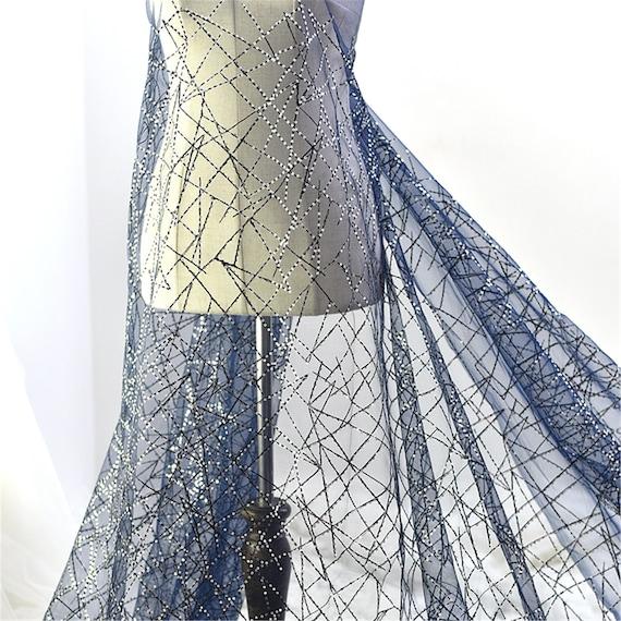 Sequin élégant tissu, Tulle broderie dentelle Dress tissu, Prom\ Party Dress dentelle tissu de dentelle, tissu dentelle robe de mariée par la Cour de mariage 08dc76