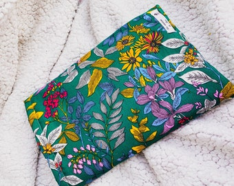 Book pouch - floral fabric