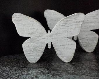 Romantischer Schmetterling Kranz Mint Metall Fensterdeko Shabby Landhaus D.19 cm