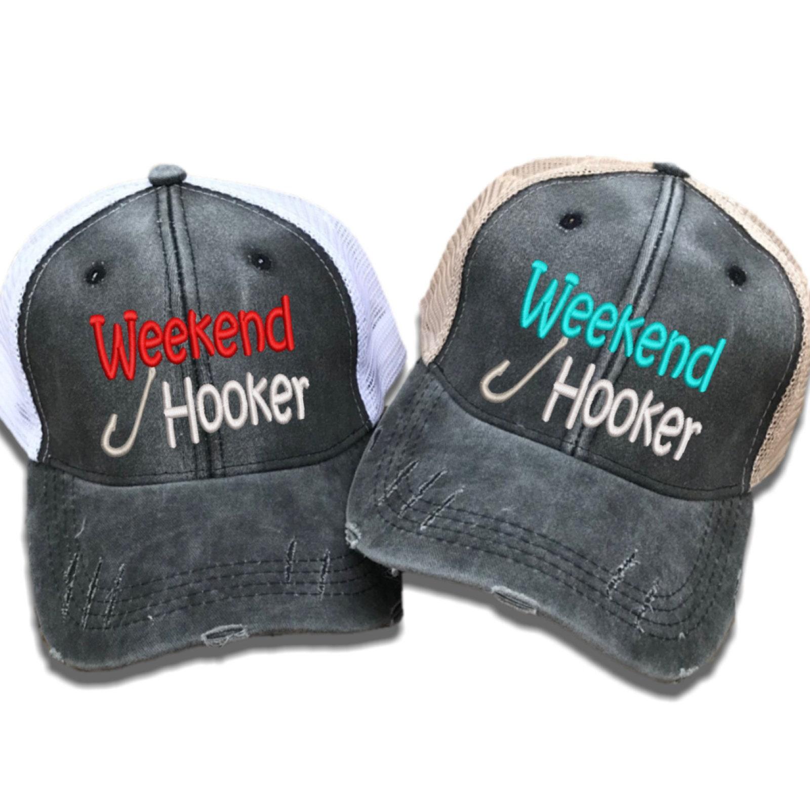 2c05bdc3aab77 Weekend Hooker Fishing Trucker Hat Custom Hats Women s