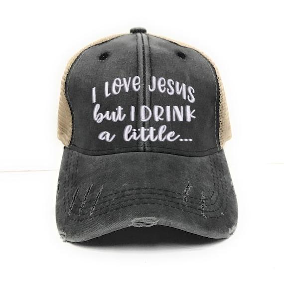 I Love Jesus Custom Trucker Hat Men s Women s  f40baab9a73