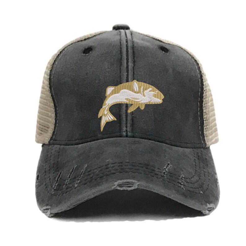 16316d69 Fishing Hat Custom Distressed Fishing Trucker Hats For Men | Etsy