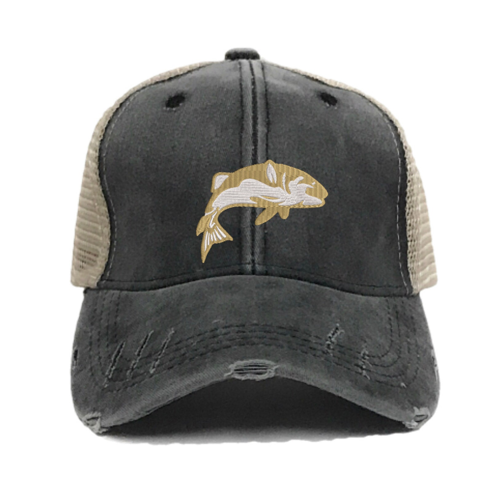 b5993a9001b Fishing Hat Custom Distressed Fishing Trucker Hats For Men