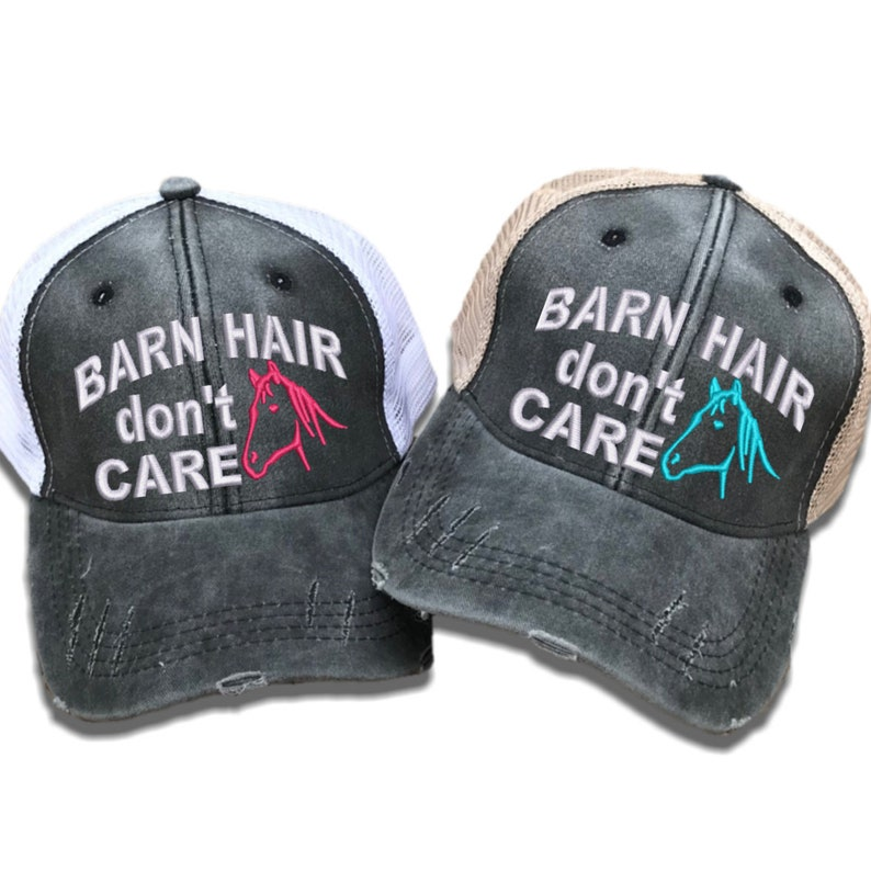 db96105f6658a Barn Hair Don t Care Custom Trucker Hats For Women Funny