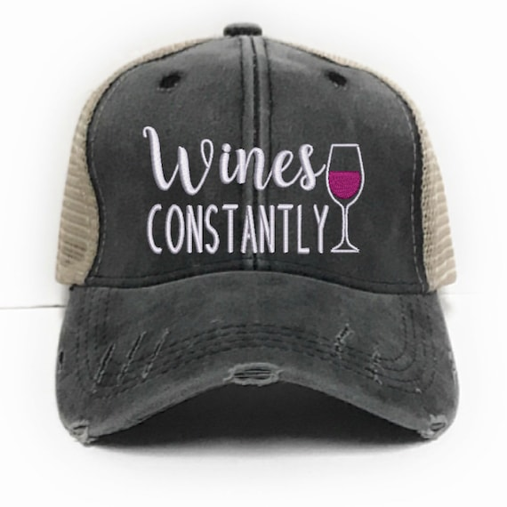 Wines Constantly Custom Trucker Hat Women Party Hats  4d00ef3337